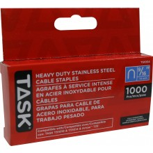 "9/16"" (14mm) Heavy Duty Stainless Steel Cable Staples - 1000/pack"