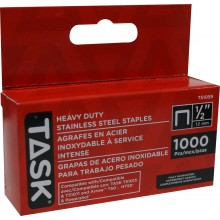 "1/2"" (12mm) Heavy Duty Stainless Steel Staples - 1000/pack"