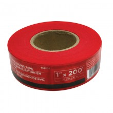 "1"" x 200' Red PVC Flagging Tape"