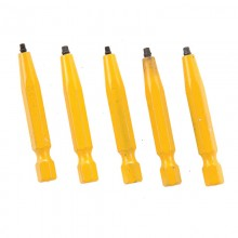 "#0 Robertson® 2"" Yellow Two-Piece Screwdriver Bit - Bulk"