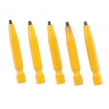 """#0 Robertson® 2"""" Yellow Two-Piece Screwdriver Bit - Bulk"""