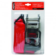"""5000 lb. 2"""" x 16' Ratcheting Tie Down - 1/pack"""
