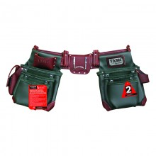 Green & Burgundy 11 Pocket Component Apron System - 1/pack