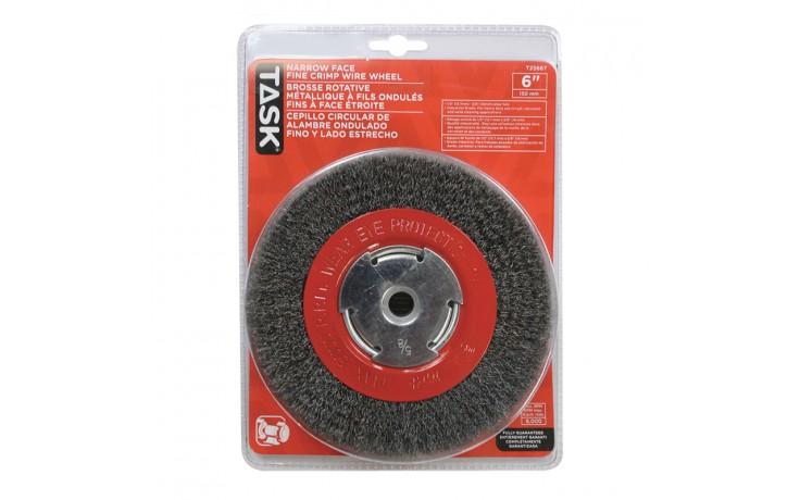 Disque abrasif en acier industriel fin de 6 po pour meuleuses d'établi – 1/paquet