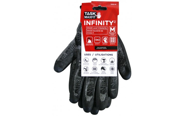 Gants de travail de InfinityMC pro (moyen) - paquet de 1
