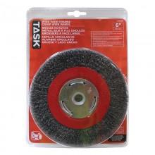 Brosse rotative métallique à fils ondulés grossiers à face large – 1/paquet