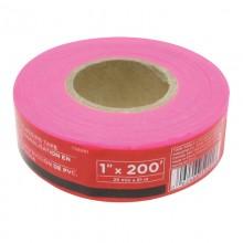 Ruban à drapeau en PVC rose, 1 po x 200 pi