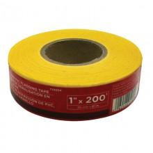 Ruban à drapeau en PVC jaune, 1 po x 200 pi