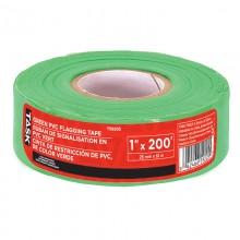 Ruban à drapeau en PVC vert, 1 po x 200 pi