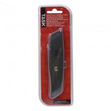 Couteau à lame trapézoïdale métallique – 1/paquet