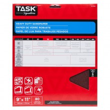"9"" x 11"" 80 Grit Medium Task Signature Heavy Duty - 5/pack"