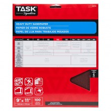 """9"""" x 11"""" 100 Grit Fine Task Signature Heavy Duty - 5/pack"""