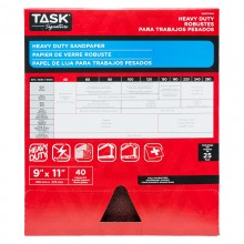 "9"" x 11"" 40 Grit Course Task Signature Heavy Duty - Bulk"
