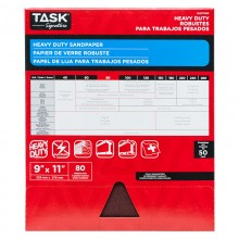 "9"" x 11"" 80 Grit Medium Task Signature Heavy Duty - Bulk"